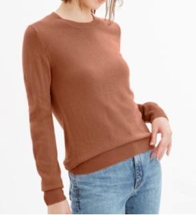 ソフトリッチクルーネックセーター (GU)