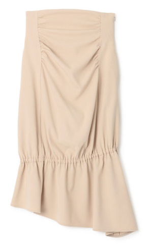 Asymmetry gather skirt(ELIN)