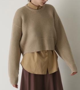 RIM.ARK(リムアーク) 11/6- order start Back volume knit