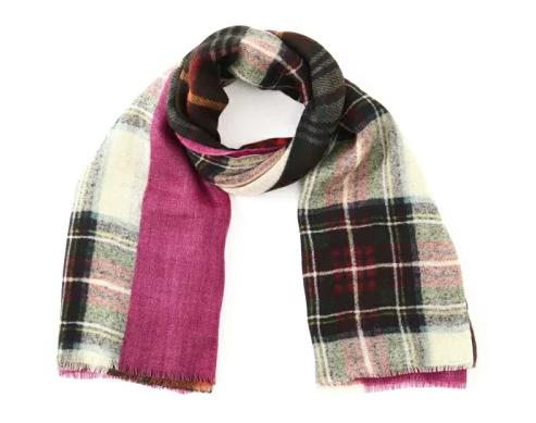 HUMAN WOMAN (ヒューマンウーマン) GLEN PRINCE 別注パッチワークプリント スカーフ