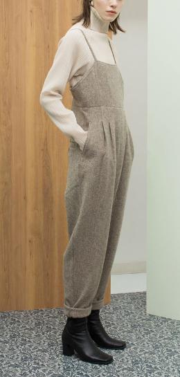 Tweed Belted Jumpsuits Gray(LEINWANDE)