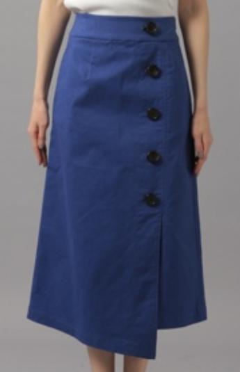 Andemiu(アンデミュウ) ボタンスリットAラインスカート