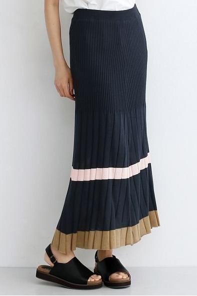 マルチフレアニットスカート(merlot)