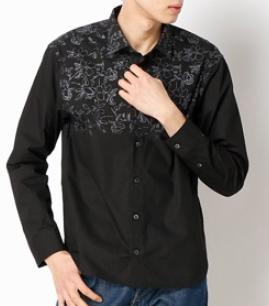 MORGAN HOMME オリジナルフラワーグラデシャツ