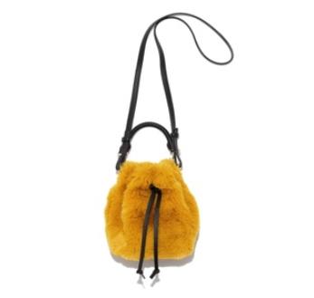 ミラオーウェン エコファーミニバケットバッグ