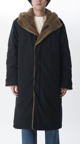 【KURO】MILITARY PARKA BOA DOWN COAT