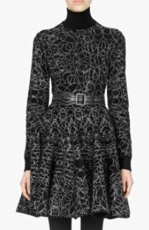 AZZEDINE ALAIA アブストラクトセーター・スカート