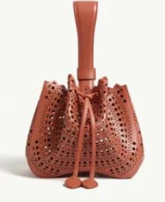 アズディン アライア サッチェル ショルダーバッグ レディース【AZZEDINE ALAIA Leather top-handl